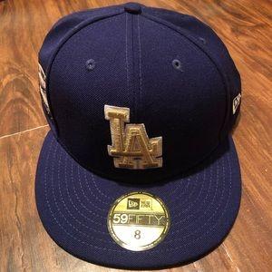 Los Angeles Dodgers Gold Patch Hat